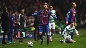 Messi scored a brace against Celtic