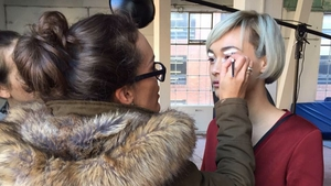 Make-up artist Nicola Cuddy
