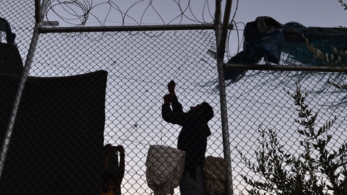 The Moria camp in Lesbos has a capacity for 3,500 people but currently houses more than 5,000