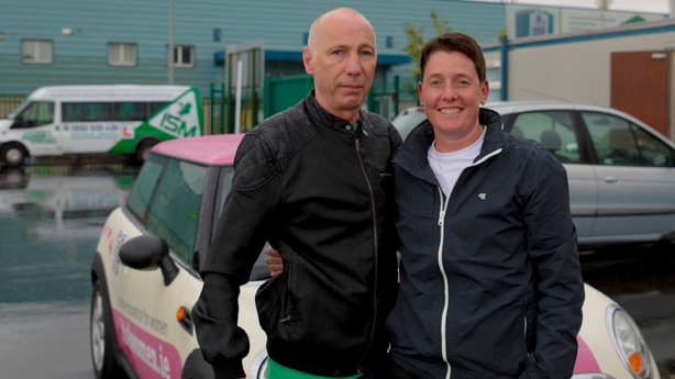 Driving Instructor Noel Gaughan and Leah Carroll