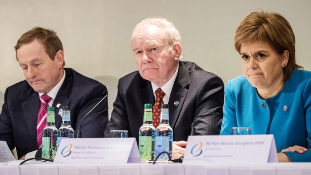 Enda Kenny, Martin McGuinness and Nicola Sturgeon