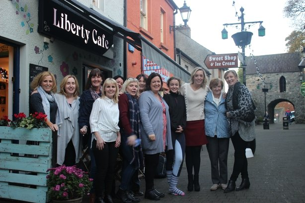 Yvonne Keenan-Ross with Kathryn Thomas at her cafe in Carlingford