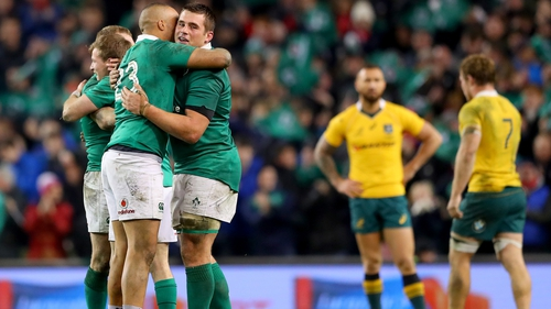 Victory over Australia capped a memorable 2016 for Ireland
