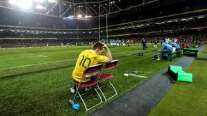 Bernard Foley was sin binned late in the defeat to Ireland