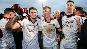 Slaughtneil players celebrate an Ulster title