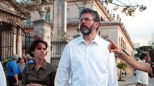 Gerry Adams pictured in Havana in 2001