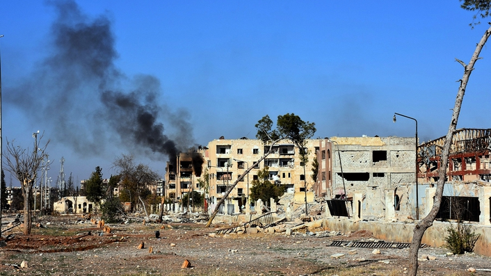 Syrian army takes key rebel district in Aleppo