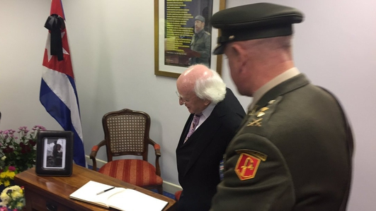 President Higgins and Fidel Castro