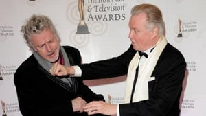 Patrick Bergin with Jon Voight at the IFTAs in 2010