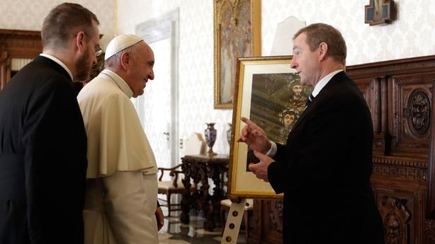 Enda Kenny meets Pope Francis