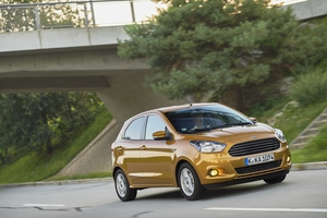 Ford's new Ka+ is shorter than the Fiesta, but taller.