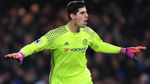 Thibaut Courtois has a year left on his Chelsea contract