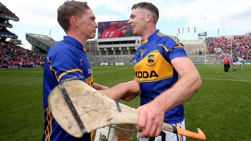 Brendan Maher (left) will pass on the captain's armband to Padraic Maher (right)