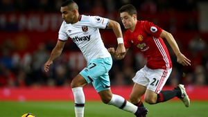 Ander Herrera chases Dimitri Payet in the 1-1 draw at Old Trafford
