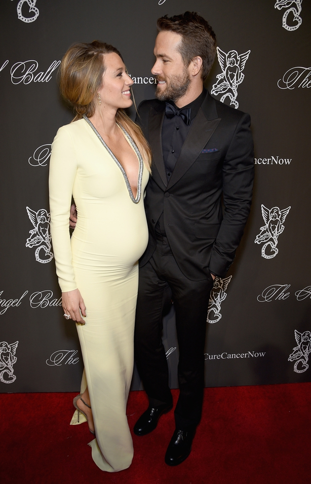 Blake Lively pregnant with James in 2014 with hubby Ryan Reynolds