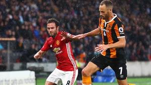 David Meyler takes on Juan Mata