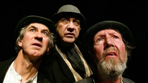 Barry McGovern, Alan Stanford and the late Johnny Murphy, in the Gate Theatre production of Samuel Beckett's