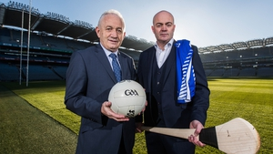 Munster football manager Ger O'Sullivan and Munster hurling manager Anthony Daly at the launch of the inter-provincial series
