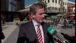Enda Kenny said he was 'very happy with the level of investment in Ireland'