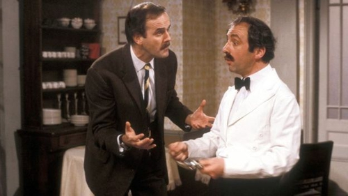 Basil and Manuel enjoying one of their many misunderstandings