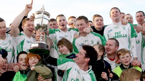 Martin Comerford celebrates O'Loughlin Gaels' last Leinster success six seasons ago