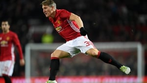 Schweinsteiger made his first appearance of the season against West Ham