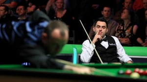 Ronnie O'Sullivan during his match with Mark Williams