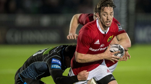 Up to the St Stephen's Day clash with Leinster, Darren Sweetnam was ever present for Munster this term
