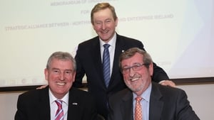 Kevin Sherry, Enterprise Ireland, Taoiseach Enda Kenny, Michael Dowling, President and CEO, Northwell Health