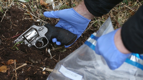 The handgun was found near the scene where convicted criminal Mark Desmond was shot at least three times in the head