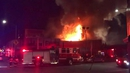 Fire officials said the roof had collapsed, complicating efforts to recover bodies at the building in California