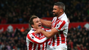 Jon Walters celebrates his first goal since March