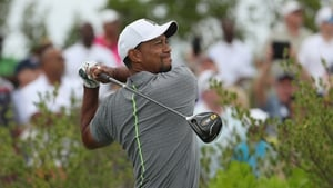 Tiger Woods did show some flashes of brilliance in his round of 70