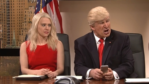 Kate McKinnon and Alec Baldwin as Kellyanne Conway and Donald Trump