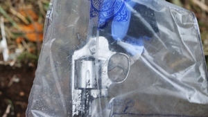 One of the guns was found in woodland close to the scene of the shooting