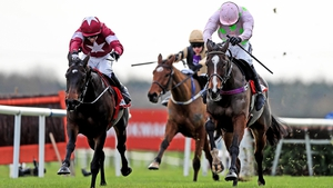 Apple's Jade (l) winning the Fairyhouse feature in 2016