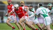 Cuala's Darragh O'Connell and Alan Geoghegan of O'Loughlin Gaels
