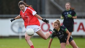 Catriona McConnell scores a goal for Donaghmoyne