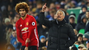 Mourinho gets ready to send in Fellaini - a move that would prove costly at Goodison Park