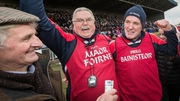 Mattie Kenny celebrates after guiding Cuala to a maiden Leinster win
