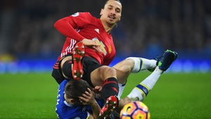 Zlatan Ibrahimovic made contact with Seamus Coleman's head in Sunday's game