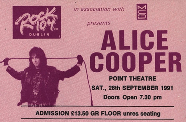 Alice Cooper Ticket Point Depot (1991)