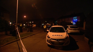 Gardaí sealed off the area as a crime scene