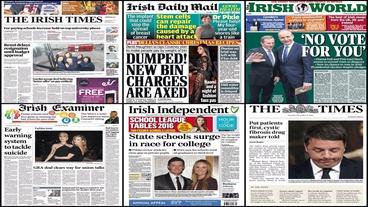 Headlines: Bin charges 'Dumped'