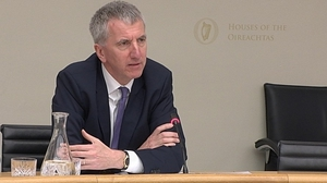 Northern Ireland Minister for Finance Máirtín Ó Muilleoir giving his views on Brexit to the Oireachtas Committee