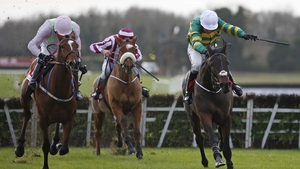 Landofhopeandglory (R) coming home to win at Fairyhouse