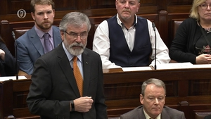 Gerry Adams told the Dáil that he never accused anyone of being a suspect in the murder of Brian Stack