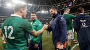 Andy Farrell congratulates Garry Ringrose after Ireland's win over Australia