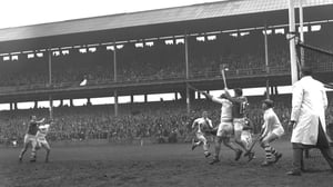 'Heyday' - A huge crowd looks on as Leinster and Connacht meet in the 1963 Railway Cup semi-final at Croke Park (pic: RTÉ Archives)