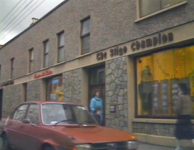 Sligo Champion premises in Sligo Town (1986)